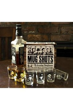 Mug Shots Shot Glasses.