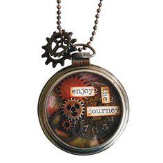 "Tim Holtz® ""Journey"" DIY Pocket Watch Necklace"