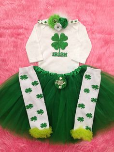 Irish Princess/ First St.patty's Day/ Irish Tutu/ by BabyTrendzz,