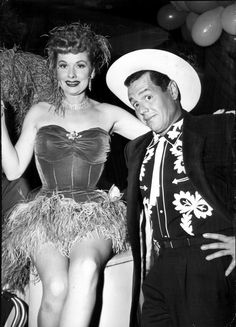 Lucille Ball and Desi Arnaz at a costume party 1956
