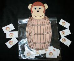 Barrel Of Monkeys Counting Activities