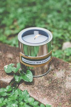 DIY: citronella candles in paint cans
