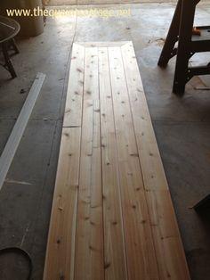 DIY wooden counter top.