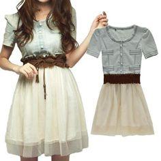 Dresses dress ezsports 1pc women girls teens ladies blue cute new