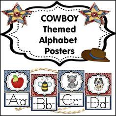 Cowboy Themed alphabet posters.