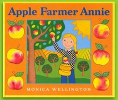 """""""Apple Farmer Annie"""" by Monica Wellington is a new addition to my OMazing Kids collection of """"Fall Faves"""". Get my free kids yoga lesson plan & printable kids yoga sequence on this blog post: http://omazingkidsllc.com/2012/09/15/apple-farmer-annie-seed-to-farmers-market-kids-yoga-lesson-plan/"""