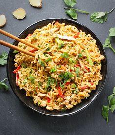 Ramen Noodle Stir Fry with Mushrooms