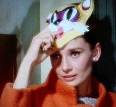 Audrey Hepburn ~ Breakfast at Tiffany's ~ Cat Mask