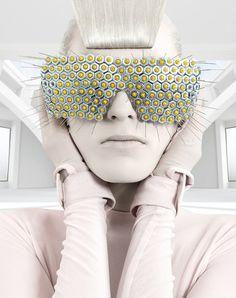 futuristic fashion from Elena Slivnyak - pinned by RokStarroad.com