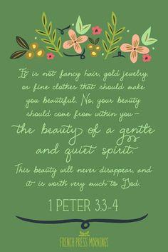 I Peter 3:3-4