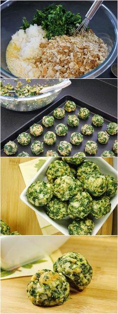 Parmesan Spinach-Balls