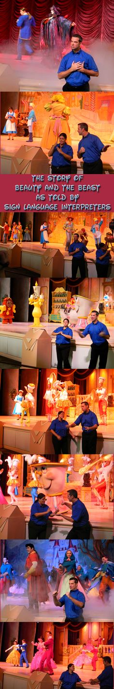 Beauty and the Beast at Disney World in ASL sign language.
