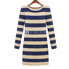 Women's Sweaters Striped O-Neck Pullover