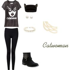 Catwoman made on polyvore (I try to put outfits together that are not expensive)