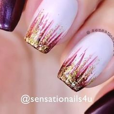 DIY Nail Design Video Tutorial #2 Video source: sensationails4u   -  #design #DIY #Nail #naildesign #nailmodel #Tutorial #Video