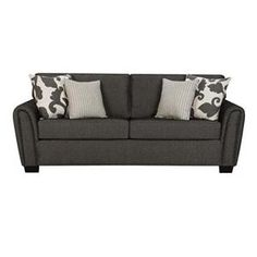 Contemporary Gray Sofa with Tapered Roll Arms | Nebraska Furniture Mart