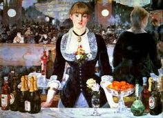 """The Bar at the Folies-Bergere"" by Edouard Manet"