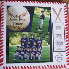 baseball scrapbook layouts | Baseball Layouts