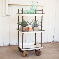 So your garden needs some tending to. And you need a big pitcher of water to keep hydrated. Load your supplies on this chic bar cart to get your work done. And when you're finished? Dust it off and pile the drinks on it for a festive affair that evening with friends.
