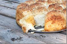Mozzarella Stuffed Garlic Rolls. MMM