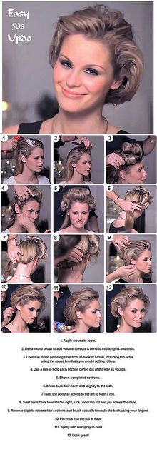 step by step how to hairstyle 50s look