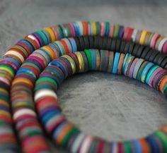 Reef Necklace and Bracelet set by jibbyandjuna - polymer clay