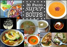 Super Soups! 20 Paleo Soups, Stews, and More! #paleo #paleosoups #dairyfree #comfortfood #souprecipes