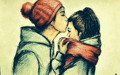 Cute drawing winter love <3