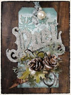 Tim Holtz 12 tags of Christmas...tag 1