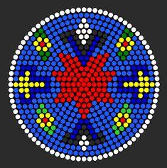 SCHEMAT/BEADING Cherokee Star perler bead pattern