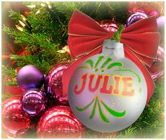 """Julie"" Ornament / Christmas Ornament / Days of our Lives / #DAYS"