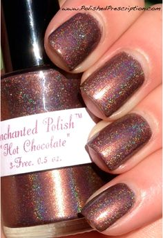 hot chocolate, enchant polish, polish prescript, polish hot, nail art