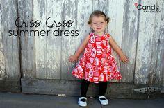vestido cruzado talla 2 años - iCandy