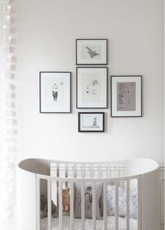Organization of frames & artwork #baby #nursery #decor