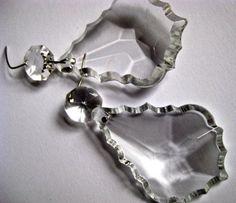vintage chandelier parts  prism crystal  drop     by pinksupply, $4.50