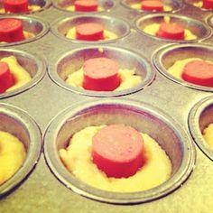 kid lunches, mini muffins, dog muffin, corndogs, corn dogs muffins jiffy, corndog mini, coconut flour recipes, school snacks, hot dogs