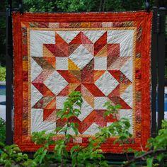 Autumn Carpenter's Star Quilt.  Peace, Robert from nancysfabrics.com