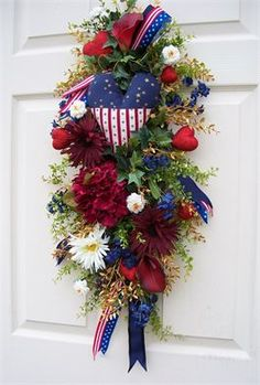 Americana or 4th of July Swag  http://timelessfloralcreations.com