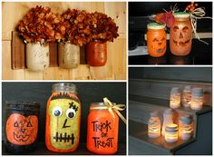 For your fall inspiration, Mason Jars are ready for your autumn colors and seasonal designs.