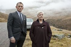 """This film image released by Sony Pictures shows Daniel Craig as James Bond, left, and Judi Dench as MI6 head M, in a scene from the film """"Skyfall."""" Dench has been the Bond matriarch: the strong-willed, no-nonsense mainstay of feminine authority in a movie franchise that has, more often than not, featured slightly more superficial womanly traits."""