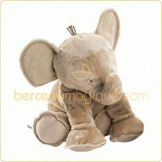 Peluche Ferdinand l'éléphant taupe (25 cm) - Tartine et Chocolat