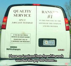 A Van Owner With A Sense Of Humor