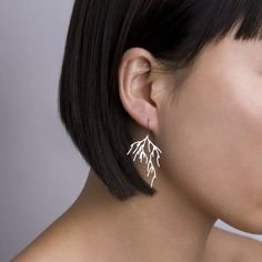 Branch+Earrings++stainless+steel+jewelry+organic+by+nervoussystem,+$40.00