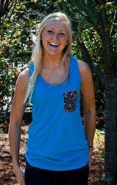 Custom Pocket Tanks!! Cute pocket options and great American Apparel Tanks! PickPocket Apparel http://wearpickpocket.com/