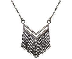 Renee Sheppard | Diamond Chevron Tassel Necklace in New Necklaces at TWISTonline