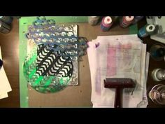 Art Geeks: The Artistic Pagan's Playground: Recess #2: Gelli Plate Printing Pt 4