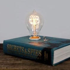 An old book turned into a lamp—so creative!