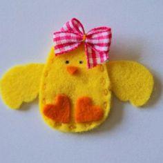 costura fieltro, felt chick, easter crafts, daughter, bow, appliqu babi, felt idea, felt applique, easter ideas