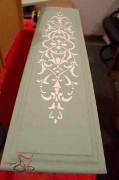 Repurposed Drawer Fronts - Royal Design Stencils- embossing medium