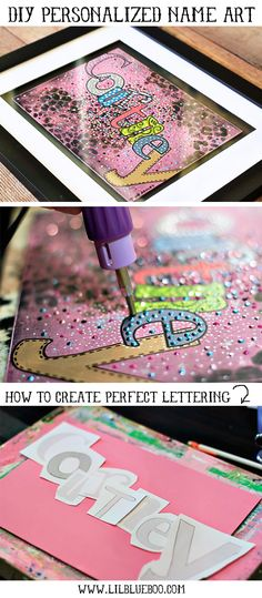 How to Make Personalized Name Art (with Animal Print Download) via lilblueboo.com #silhouette #diy #tutorial #baby